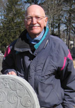 "Vincent F. Luti, author of ""In Death Rememberd: 18th Century Gravestone Carvers of the Taunton River Basin"""